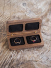 AA Flat Double Ring Box in Walnut - Gardens of the Sun Jewelry