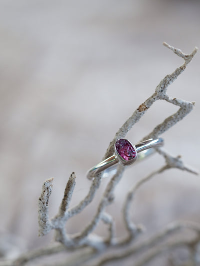 Pink Sapphire Crystal Ring