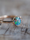 Australian Opal and Diamond Ring in Rose Gold - Gardens of the Sun Jewelry