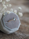 AA Seafoam Montana Sapphire Ring in Rose Gold - Gardens of the Sun Jewelry
