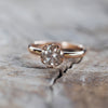 AA SENT FOR PHOTOSHOOT Grey Borneo Diamond Ring in Rose Gold - Gardens of the Sun Jewelry