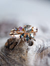 AA Pastel Sapphire Ring Set in Rose Gold - Gardens of the Sun Jewelry