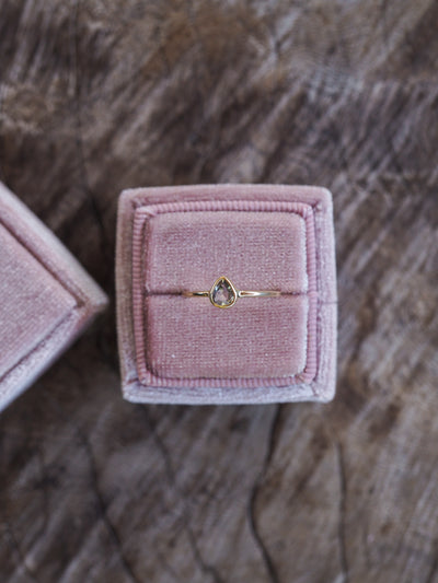 Square Velvet Ring Box