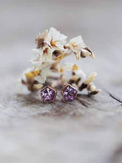 AA ANNISA Spinel Star Earrings - Gardens of the Sun Jewelry