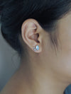 AA ANNISA Single Tanzanite and Aquamarine Crystal Earring - Gardens of the Sun Jewelry