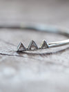 AA MERI CHECK Mountain Diamond Slice Cuff Bracelet - Gardens of the Sun Jewelry