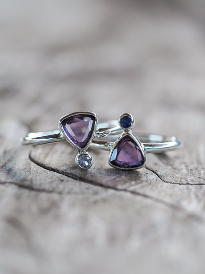 Upside Amethyst Ring