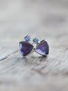 Amethyst and Tanzanite Earrings - Gardens of the Sun Jewelry