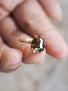 AA Meri check Olive Brown Diamond Ring - Gardens of the Sun Jewelry