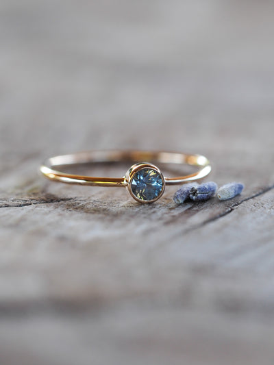 Blue Montana Sapphire Ring - Gardens of the Sun Jewelry