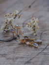 AA ANNISA Mismatched leaf earrings in gold - Gardens of the Sun Jewelry