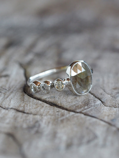 AA Meri check Rustic Diamond Ring - Gardens of the Sun Jewelry