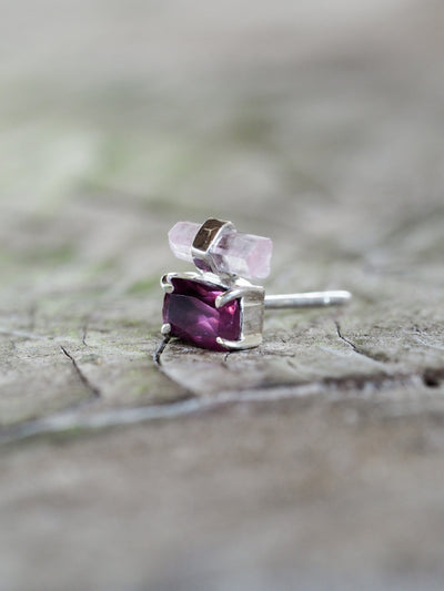 AA Meri check + price Garnet and Tourmaline Crystal Earrings - Gardens of the Sun Jewelry