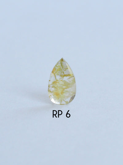 Custom Rose Cut Pear Diamond Ring