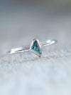 Blue Diamond Slice Ring - Gardens of the Sun Jewelry