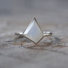 AA ATRI Geometric Moonstone Ring - Gardens of the Sun Jewelry