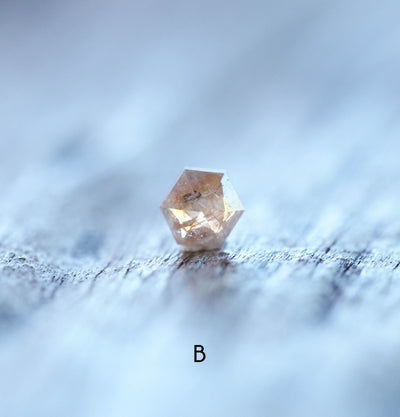 A Small Hexagon Diamond Ring | Build Your Own - Gardens of the Sun Jewelry