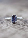 Color Change Sapphire and Diamond Ring - Gardens of the Sun Jewelry