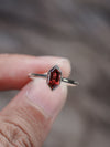 AA Meri Geometric Garnet Ring - Gardens of the Sun Jewelry