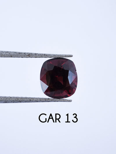 Custom Garnet Ring in Gold - Gardens of the Sun Jewelry