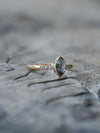 Marquise Grey Diamond Ring in Rose Gold