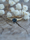Blue Spinel Ring in Eco Gold