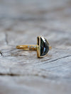 AA SENT FOR PHOTOSHOOT Half Moon Diamond Ring - Gardens of the Sun Jewelry