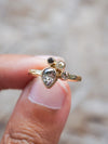 AA Pear Diamond Cluster Ring in Eco gold - Gardens of the Sun Jewelry