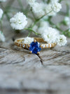 AA Cornflower Blue Sapphire Ring in Eco Gold - Gardens of the Sun Jewelry