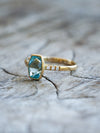 AA Custom Cut Aquamarine Ring in Eco Gold - Gardens of the Sun Jewelry