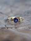 AA ATRI Sapphire and Borneo Diamond Ring in Gold - Gardens of the Sun Jewelry