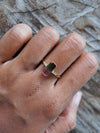 AA ATRI Watermelon Tourmaline Ring in Gold - Gardens of the Sun Jewelry