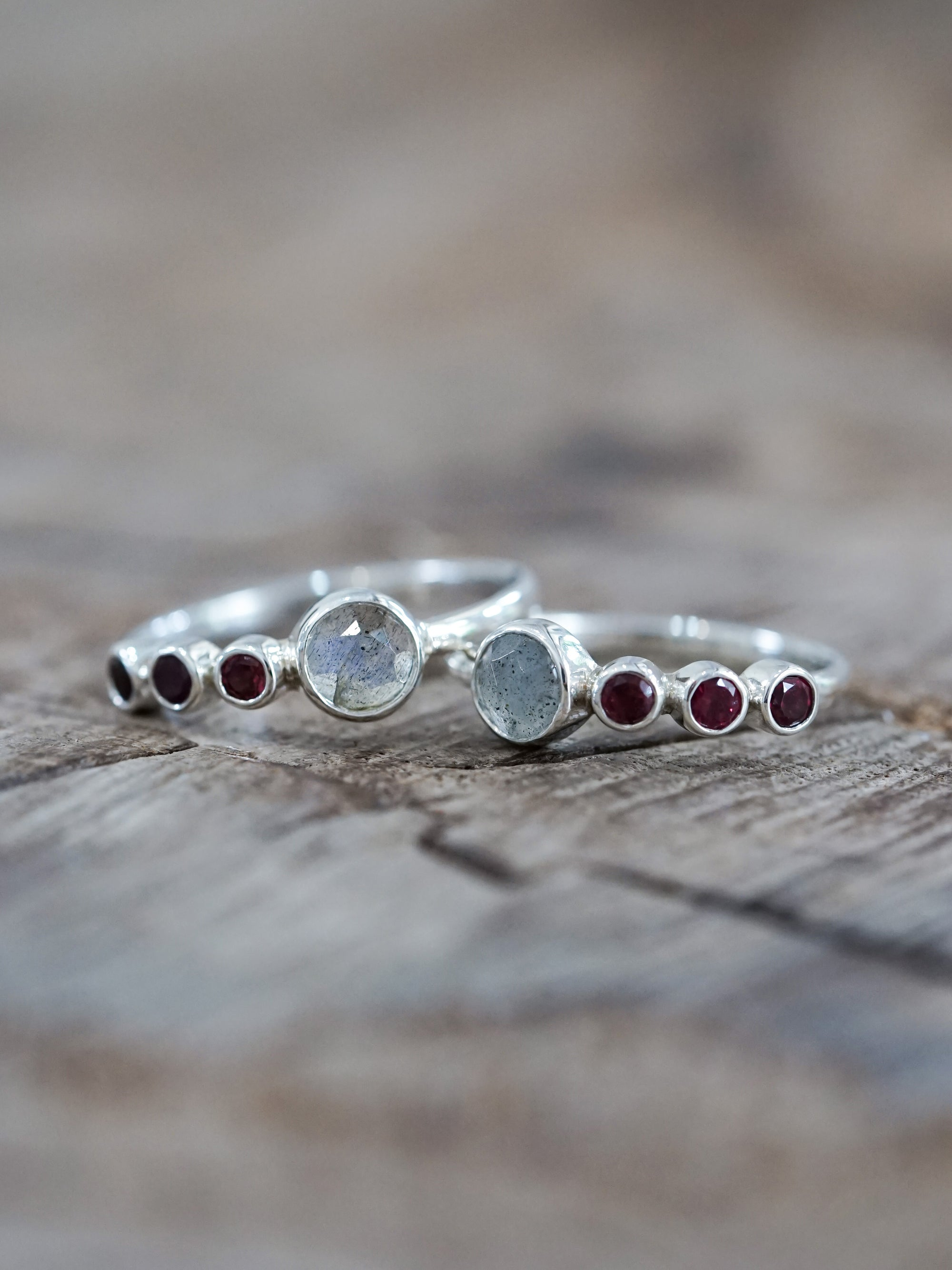 Custom Double Birthstone Ring