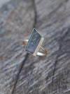 Brazilian Tourmaline Slice and Diamond Ring in Rose Gold