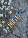 Cornflower Blue Sapphire Ring in Eco Gold