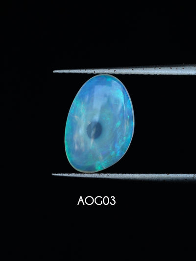 Custom Australian Opal Ring in Gold