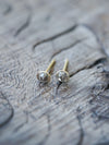 Old Mine Cut Diamond Earrings in Eco gold