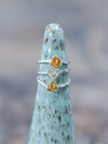 Trillion Citrine Ring
