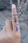 Amethyst Ring with Hidden Gems