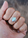 Opal and Aquamarine Ring