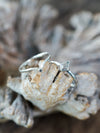 Kite Diamond Ring Set in Eco Silver