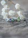 Custom Triple Birthstone Ring