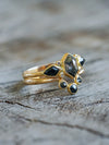 Angel Wings Diamond Ring Set in Gold