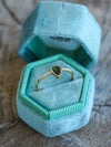 Maine Tourmaline and Diamond Ring in Eco Gold