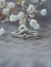 Mini Rose Cut Diamond Triangle Ring