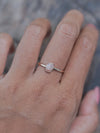 Rustic Diamond Ring in Rose Gold