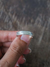 Faceted Wedding Band in Silver