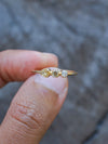 Triple Diamond Ring in Gold