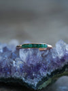 Rough Emerald Ring with Hidden Gems in Gold