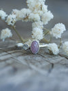 Pink Sapphire and Rainbow Moonstone Ring
